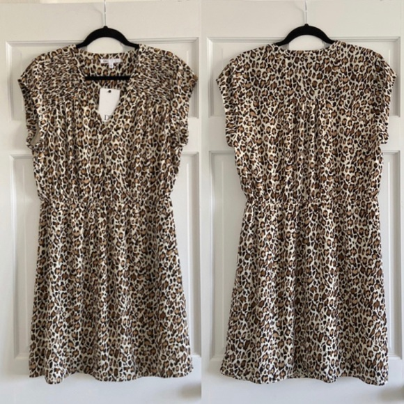 DR2 Dresses & Skirts - NWT DR2 Leopard Cheetah Dress Size Large